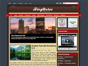 Wordpress шаблон галерея BlogNotes