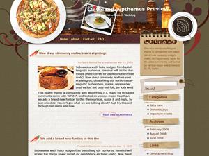 Кулинарный шаблон Bon-appetite