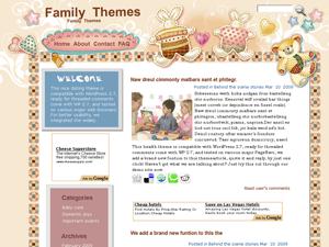 Детская WordPress тема BunnyandTeddy