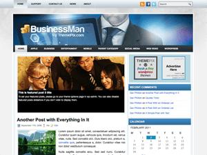 Бизнес тема WordPress BusinessMan