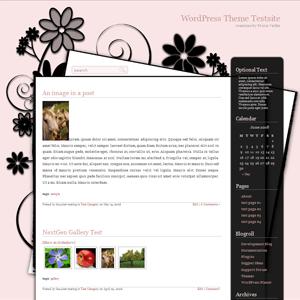 Простая тема WordPress Classy-pink
