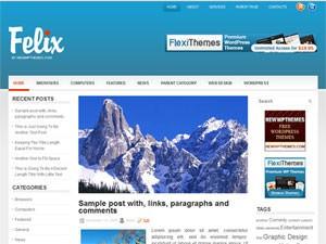 Wordpress шаблон галерея Felix