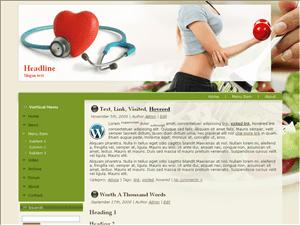 Шаблон на тему здоровья Вордпресс Fitness24