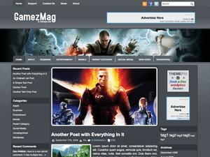 Игровой шаблон Вордпресс GamezMag