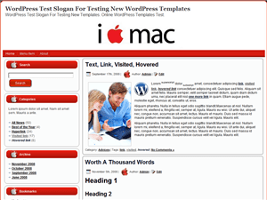 Тема WordPress ноутбуки I Love Mac