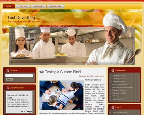 Шаблон Italian restaurant wp
