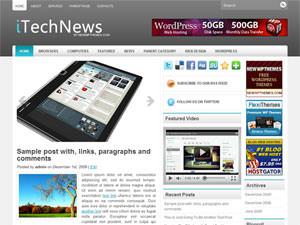 Шаблон Вордпресс техно iTechNews
