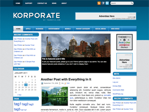 Бизнес тема WordPress Korporate