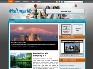 Вордпресс шаблон галерея Multimedia