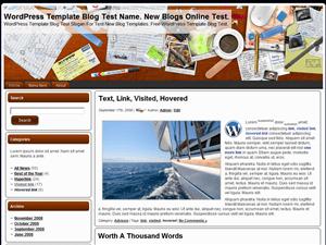 Простой шаблон WordPress My Desk