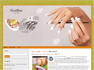 Wordpress шаблон красота Nail Salon