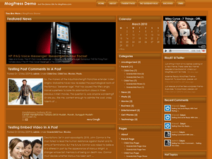 Wordpress тема портал Orenis