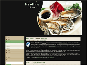 Wordpress тема кулинария Fishing ad