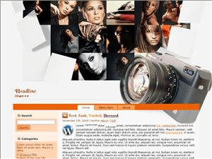 Вордпресс шаблон фото Photography