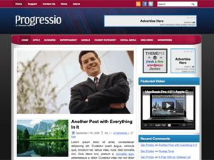 Бизнес шаблон WordPress Progressio