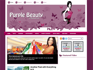 Женская WordPress тема PurpleBeauty