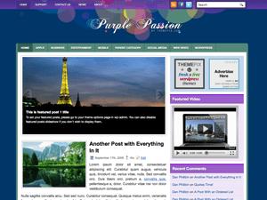 Красочная тема Вордпресс PurplePassion