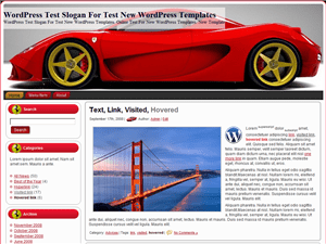 Авто шаблон WordPress Red Ferrari