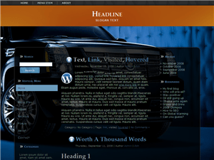 Шаблон WordPress автомобили Stylish-car