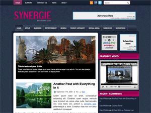 Бизнес шаблон WordPress Synergie