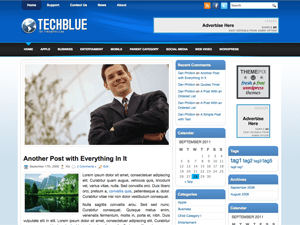 Шаблон Вордпресс техно TechBlue