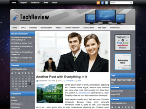 Шаблон Вордпресс бизнес TechReview