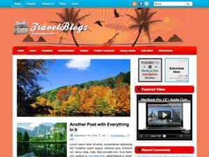Туристический шаблон WordPress TravelBlogz