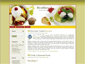 Wordpress шаблон кулинария Western food