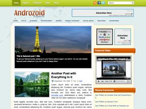 Шаблон WordPress шопинг Androzoid