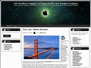 Вордпресс шаблон гаджеты Apple-Universe