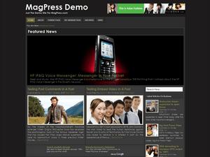 Универсальная WordPress тема Blackzine