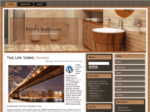 Шаблон Вордпресс интерьер Brown-bathroom