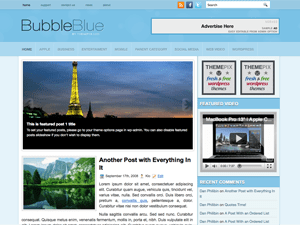 Универсальная WordPress тема BubbleBlue