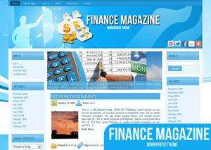 Вордпресс шаблон финансы FinanceMag