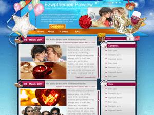 Wordpress тема романтика If-Love-Why-Wait