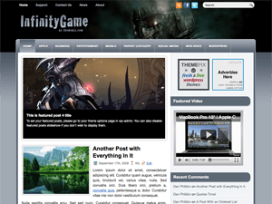 Wordpress тема игры InfinityGame