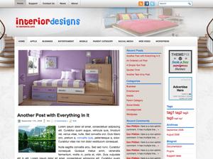Wordpress тема интерьер InteriorDesigns