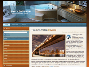 Шаблон WordPress интерьер Luxury-bathroom