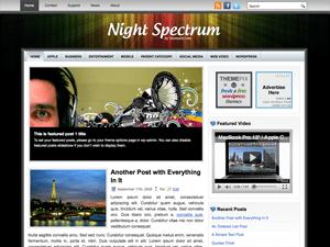 Музыкальная тема Вордпресс NightSpectrum