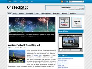 Wordpress тема галерея OneTechStop