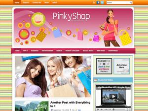Шаблон WordPress шопинг PinkyShop