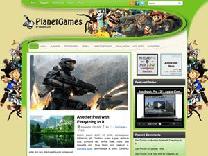 Шаблон WordPress игры PlanetGames