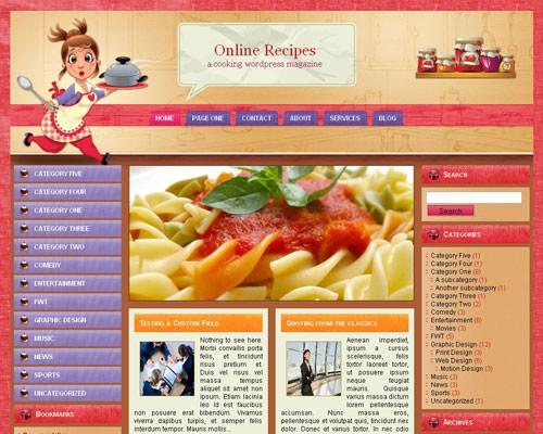 Wordpress тема кулинария Online-recipes