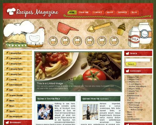 Кулинарная тема WordPress Recipes-magazine
