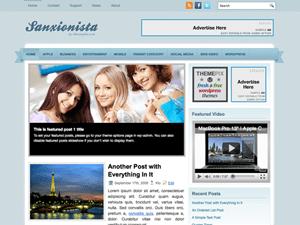 Шаблон WordPress шопинг Sanxionista