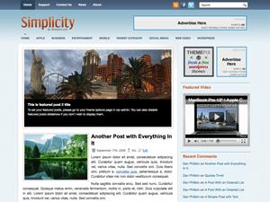 Современный шаблон для WordPress Simplicity