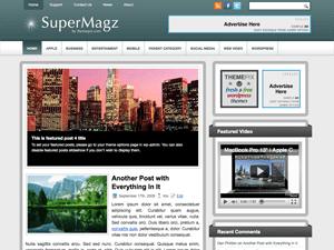 Шаблон WordPress галерея SuperMagz