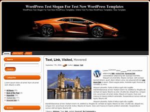 Шаблон WordPress автомобили Yellow-Speed
