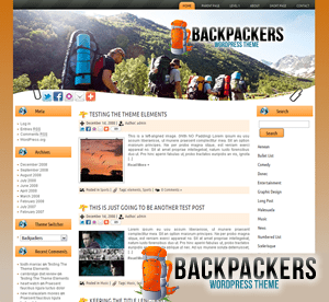 Шаблон для сайта о туризме Backpackers