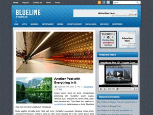 Шаблон WordPress слайдер BlueLines